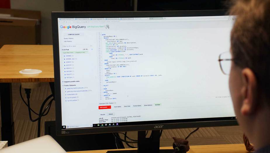 Nathaniel reviews a query from Google Big Query