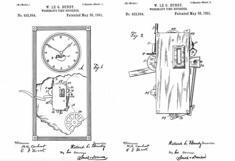 Willard Bundy Workman Time Recorder