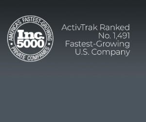 The Inc. 5000 logo next to text: ActivTrak ranked No. 1.491 Fastest Growing U.S. Company.