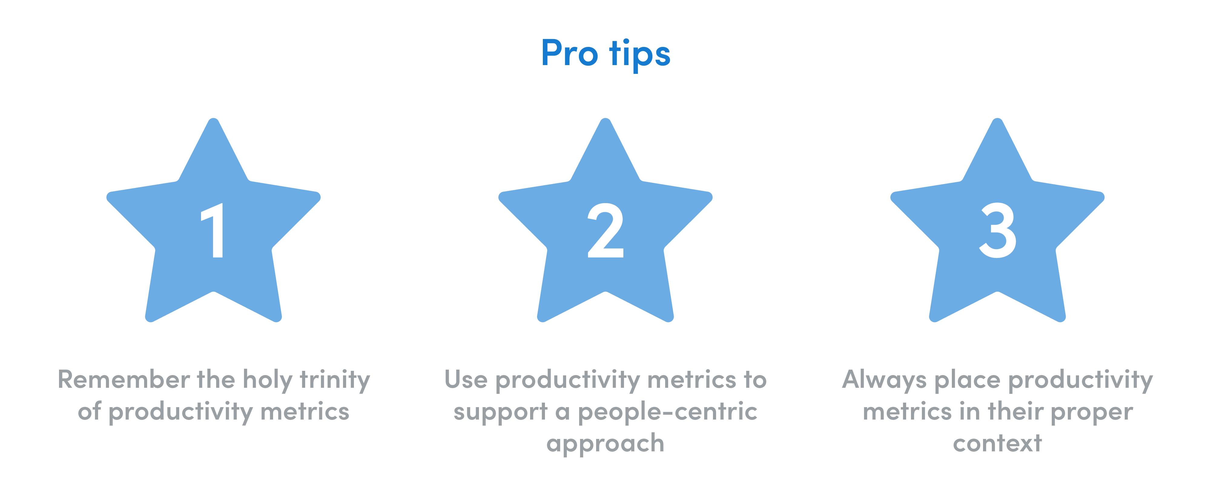 pro tips for creating productivity metrics